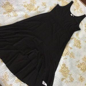 Gap LowHigh sleeveless black Dress